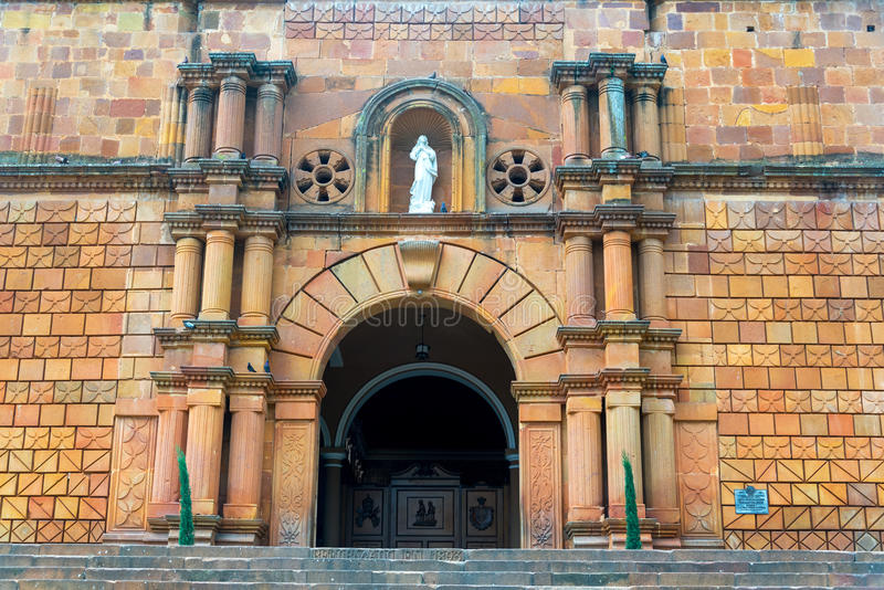 Catedral Entrace de Barichara fotos de stock
