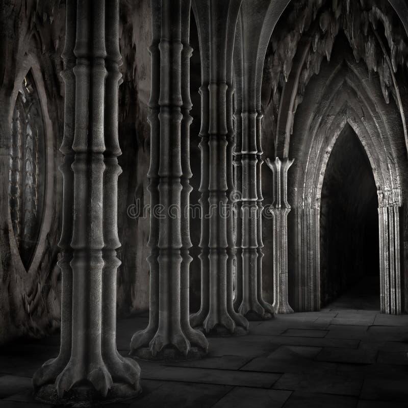 Catedral escura ilustração stock