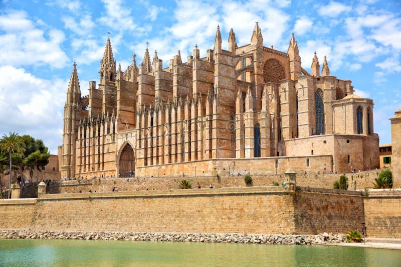 Catedral famosa de Palma de Mallorca fotografia de stock