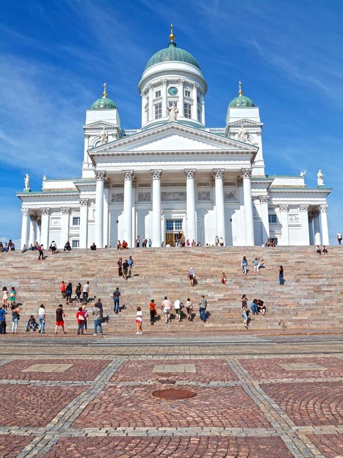 Catedral Finlandia de Helsinki fotografía de archivo libre de regalías