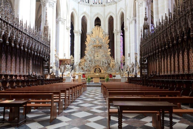 Catedral France 13 de Amiens imagem de stock