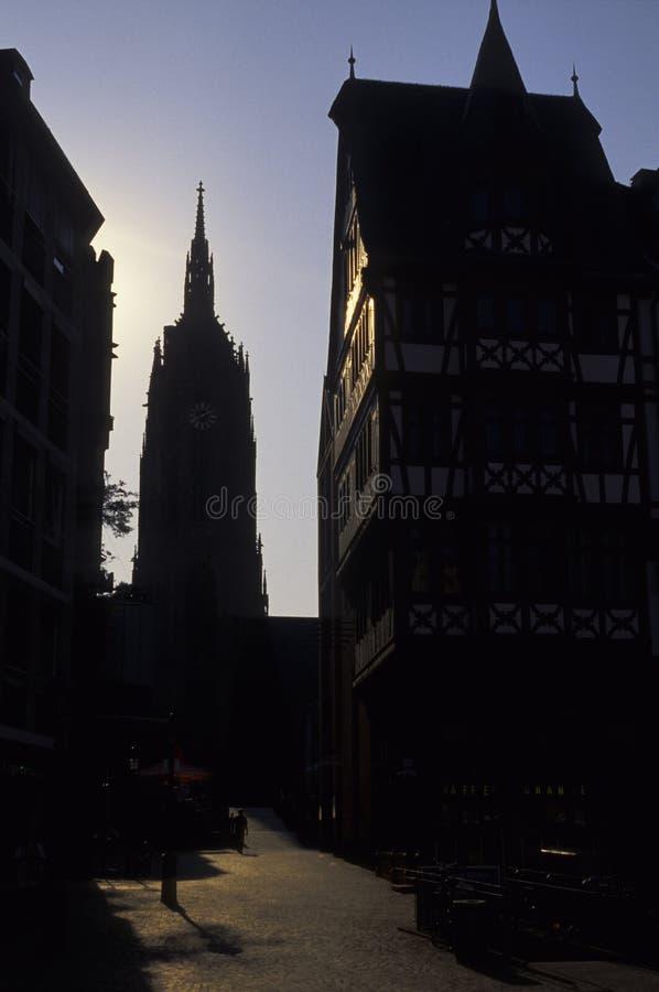 Catedral Francoforte de Bartholomeus de Saint foto de stock royalty free