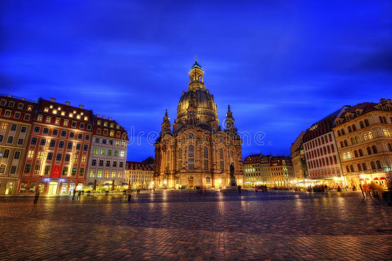 Catedral Frauenkirche Dresden imagens de stock royalty free