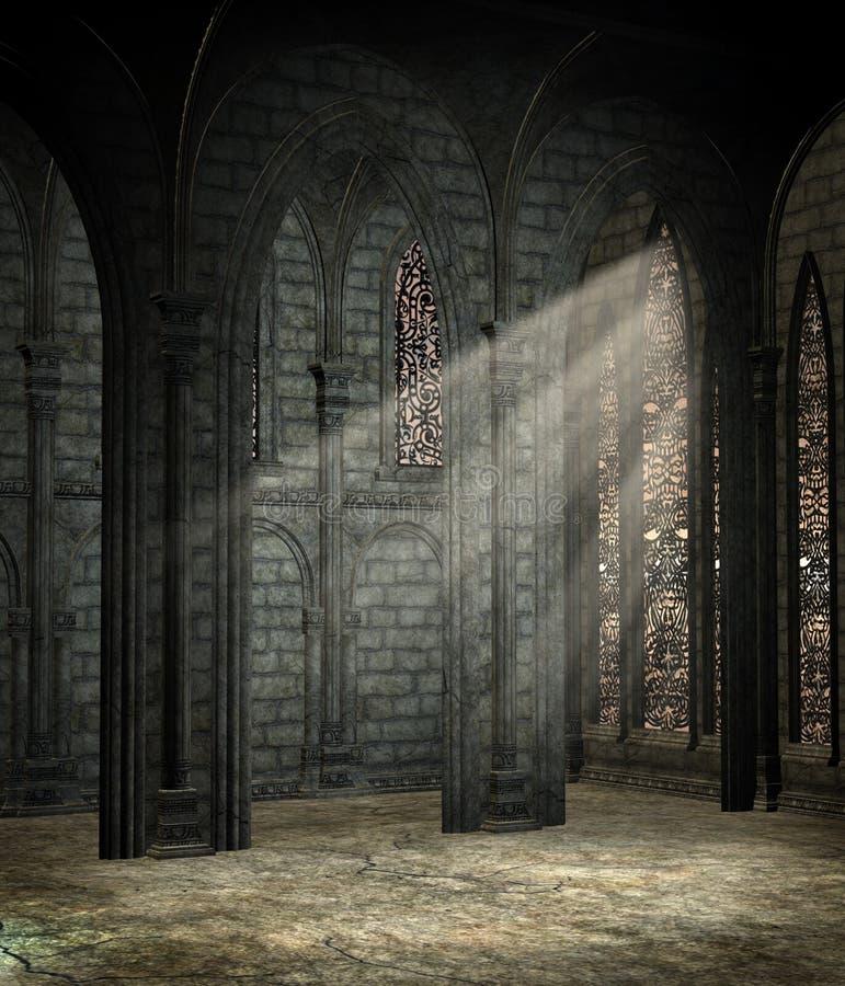 Catedral gótica 2 stock de ilustración