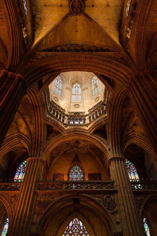 Catedral gótica de Barcelona foto de archivo libre de regalías