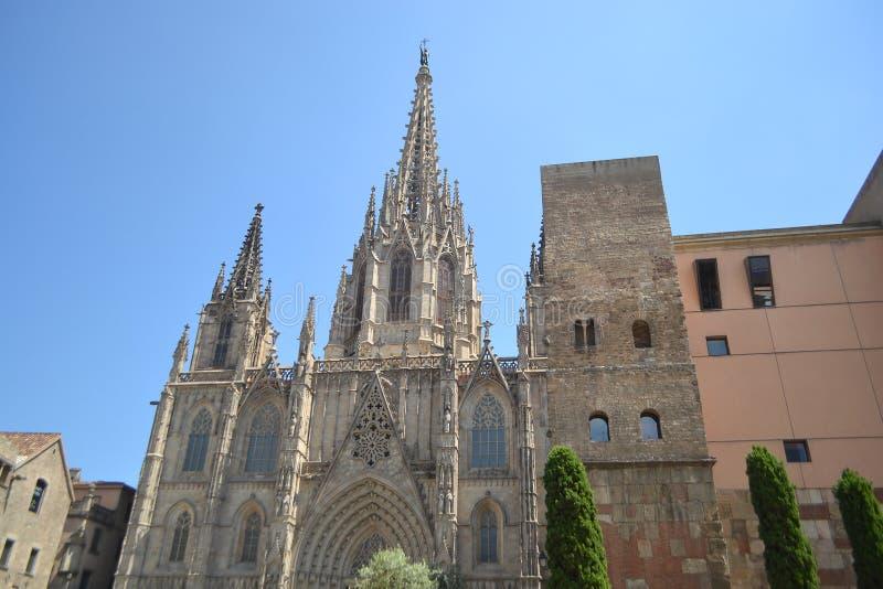 Catedral gótica de Barcelona foto de archivo