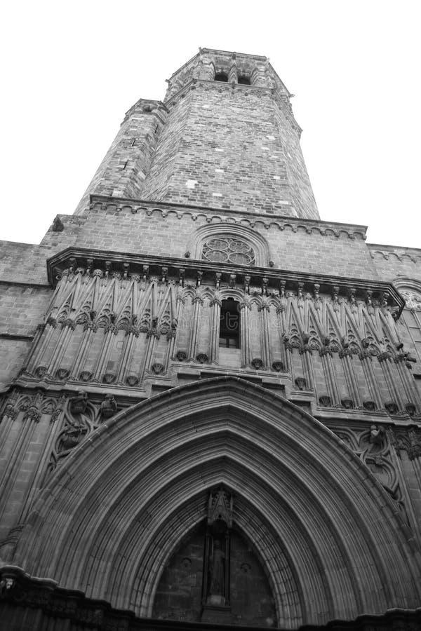 Catedral gótica de Barcelona imagenes de archivo