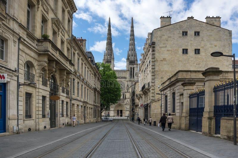 Catedral gótica de Burdeos foto de archivo libre de regalías