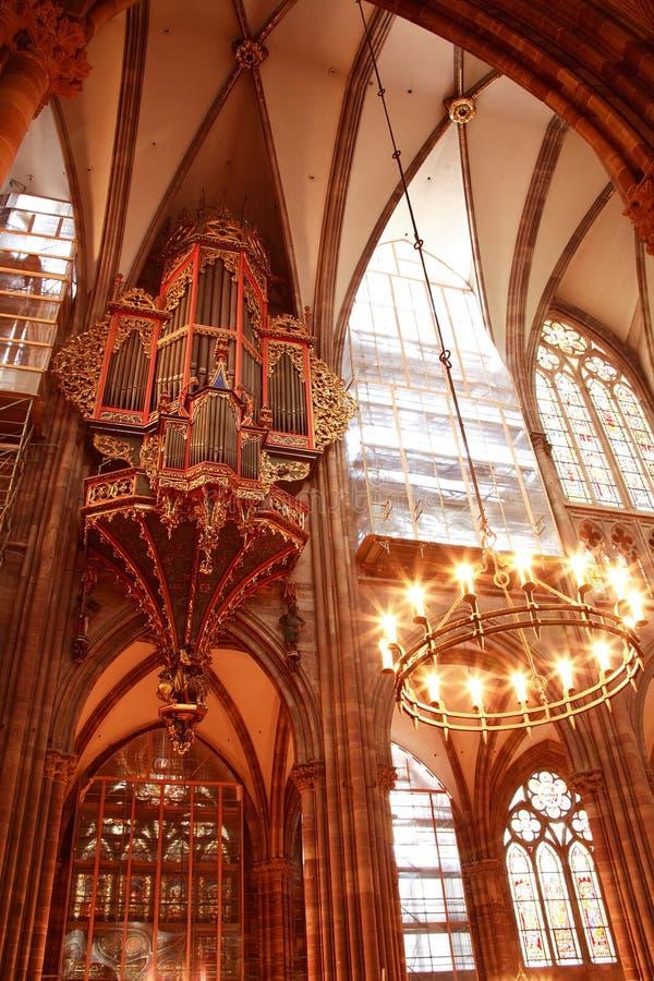 Catedral gótica de la piedra arenisca de nuestra señora imagen de archivo libre de regalías