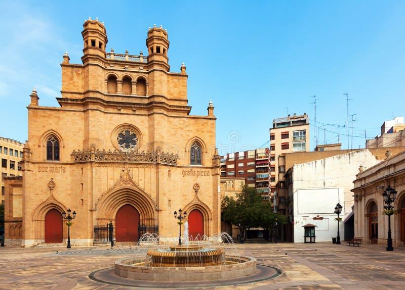 Catedral gótica en Castellon de la Plana, España fotografía de archivo