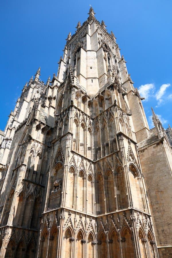 Catedral Gótica En York, Inglaterra Fotografía de archivo