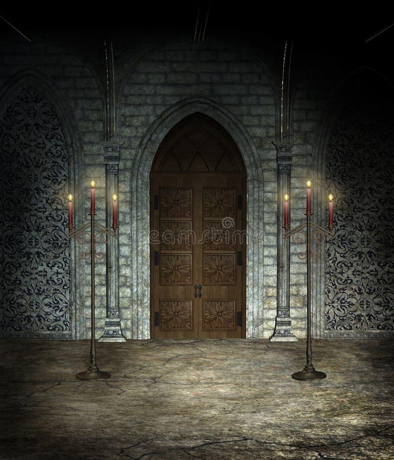 Catedral gótico ilustração royalty free