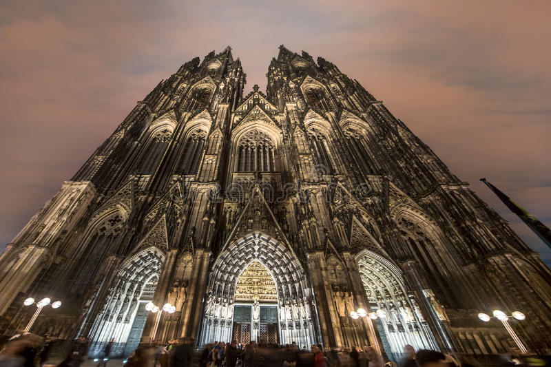 Catedral gótico de Colónia fotografia de stock royalty free