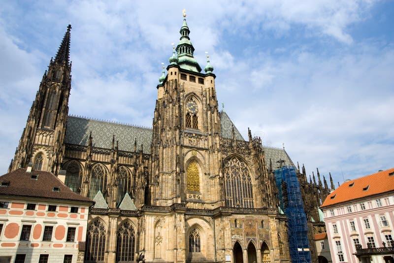 Catedral gótico do St Vitus em Praga fotos de stock royalty free