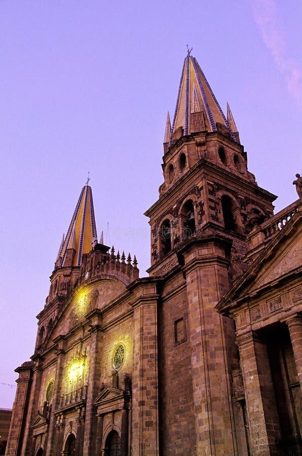 Catedral Guadalajara, México imágenes de archivo libres de regalías