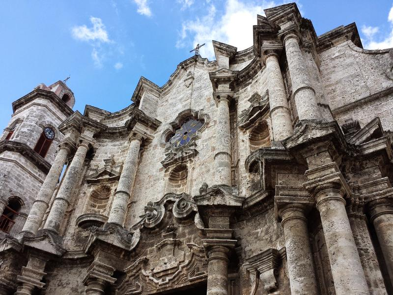 Catedral of Havana royalty free stock photos