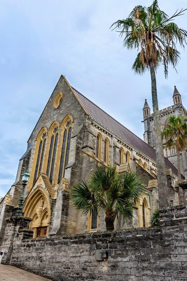 Catedral histórica Bermuda fotos de stock royalty free
