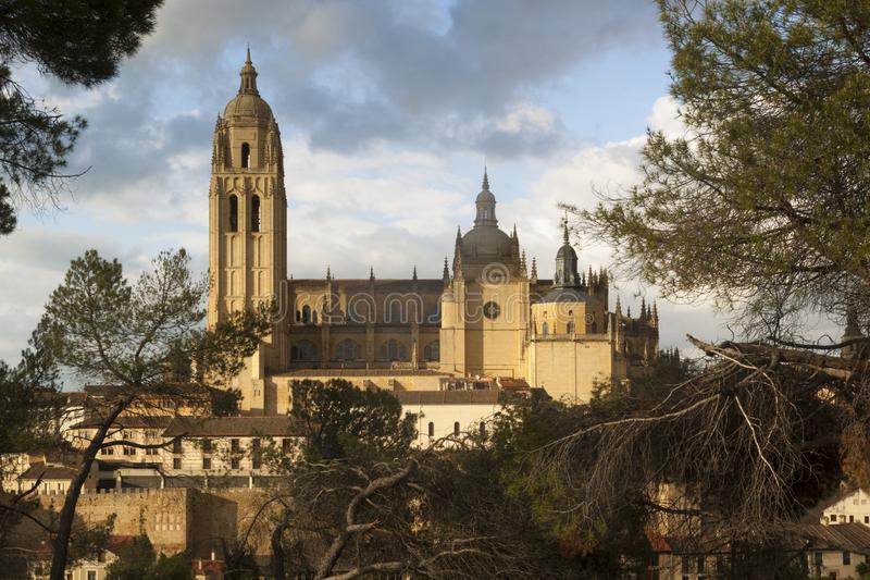 Catedral in the historic city of Segovia, Castilla y Leon, Spain royalty free stock photography