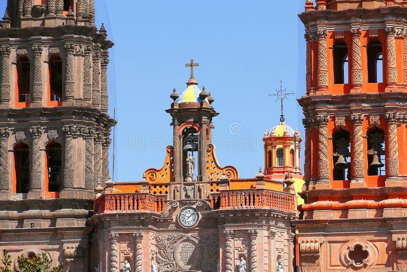 Catedral I de San Luis potosi imagen de archivo libre de regalías
