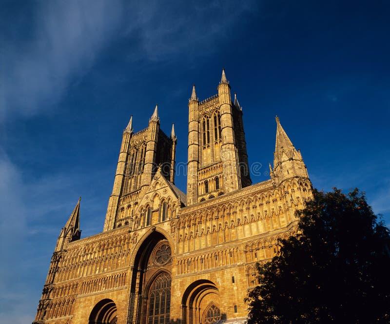 Catedral Inglaterra de Lincoln. imagens de stock royalty free