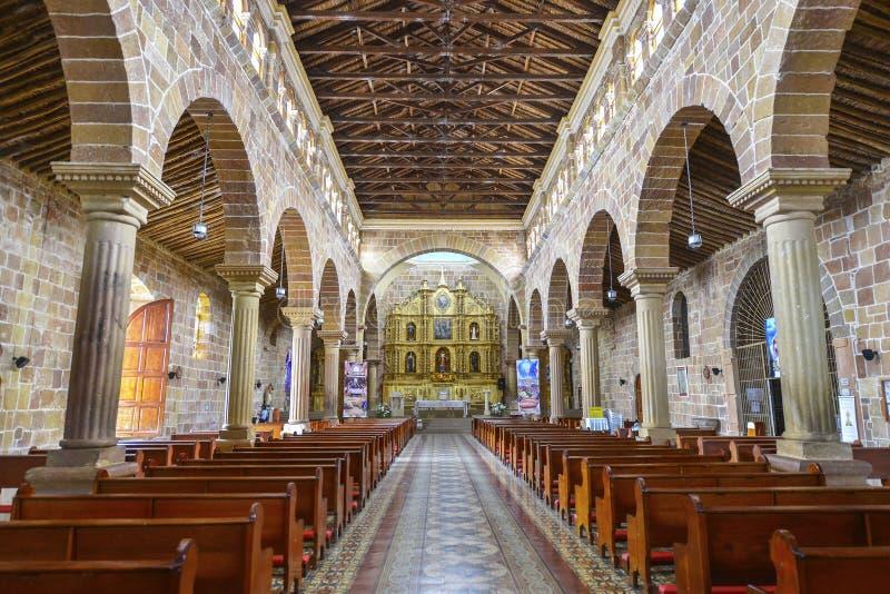 Catedral Inmaculada Concepción em Barichara, Colômbia imagens de stock