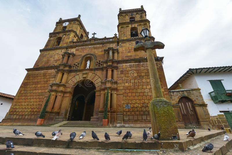 Catedral Inmaculada Concepción em Barichara, Colômbia imagem de stock royalty free