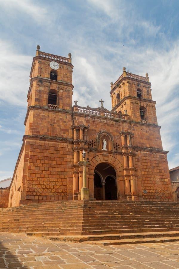 Catedral Inmaculada Concepción na vila de Barichara fotos de stock