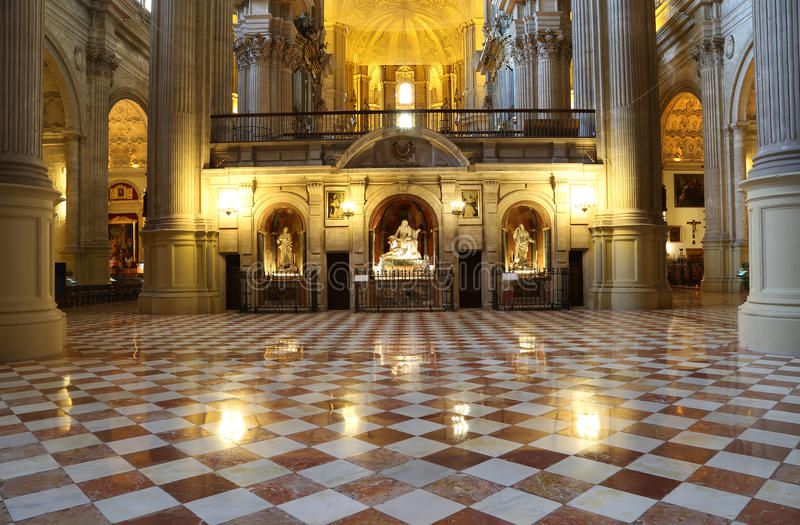 Download Catedral Interior De Málaga--es Una Iglesia Del Renacimiento En La Ciudad De Málaga, Andalucía, España Meridional Imagen de archivo - Imagen de religión, españa: 44857505