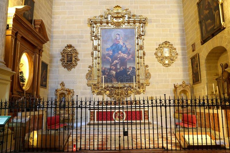 Download Catedral Interior De Málaga--es Una Iglesia Del Renacimiento En La Ciudad De Málaga, Andalucía, España Meridional Imagen de archivo - Imagen de ciudad, viejo: 44857519