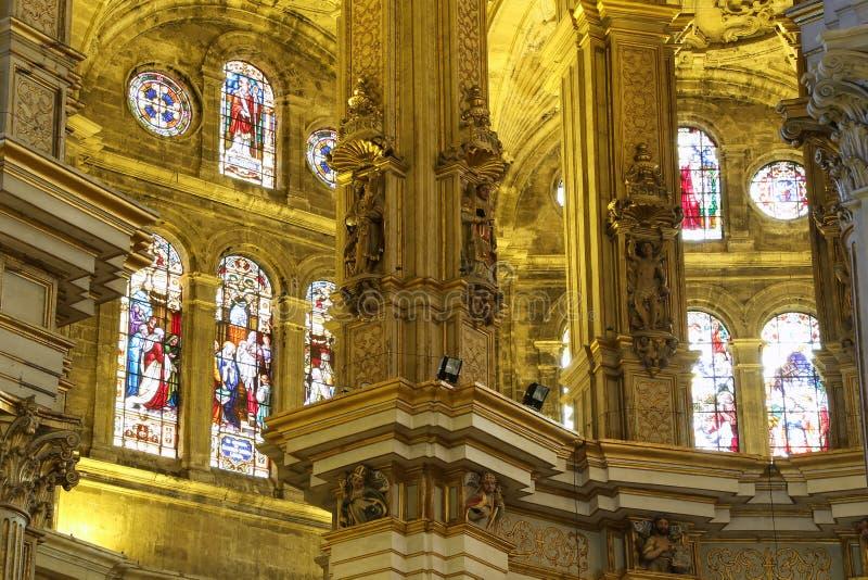 Download Catedral Interior De Málaga--es Una Iglesia Del Renacimiento En La Ciudad De Málaga, Andalucía, España Meridional Foto de archivo - Imagen de renacimiento, ciudad: 44857534