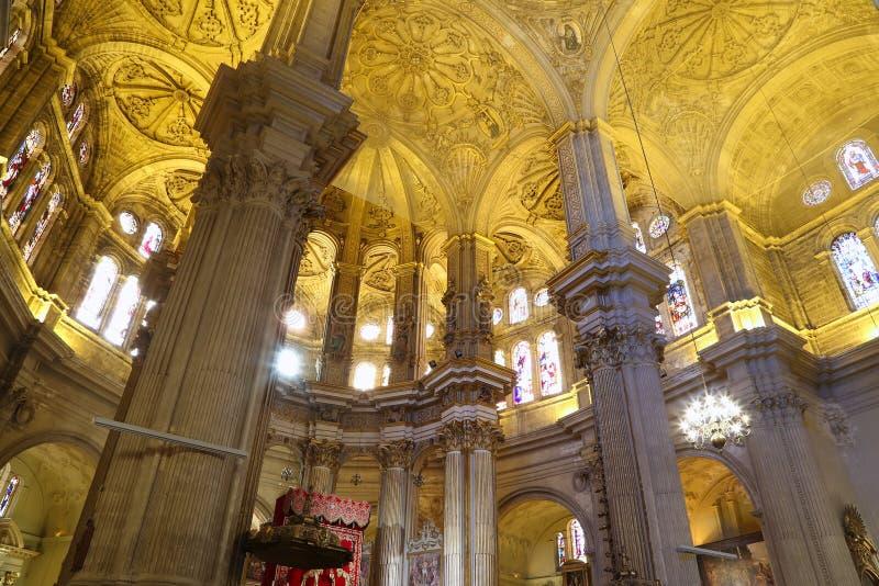 Download Catedral Interior De Málaga--es Una Iglesia Del Renacimiento En La Ciudad De Málaga, Andalucía, España Meridional Imagen de archivo - Imagen de tradicional, parte: 44857541