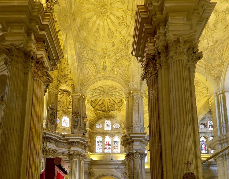 Download Catedral Interior De Málaga--es Una Iglesia Del Renacimiento En La Ciudad De Málaga, Andalucía, España Meridional Foto de archivo - Imagen de viejo, iglesia: 44857548