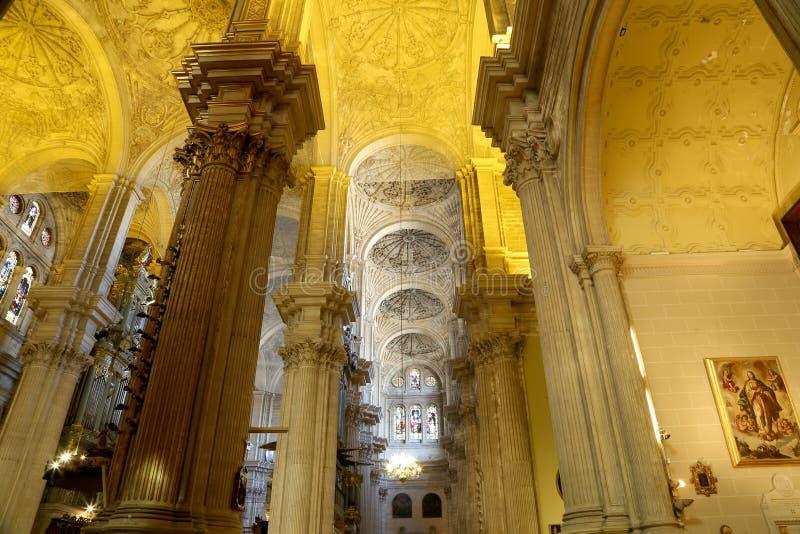 Download Catedral Interior De Málaga--es Una Iglesia Del Renacimiento En La Ciudad De Málaga, Andalucía, España Meridional Imagen de archivo - Imagen de torre, andalusia: 44857585