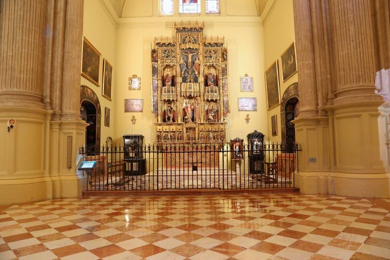 Download Catedral Interior De Málaga--es Una Iglesia Del Renacimiento En La Ciudad De Málaga, Andalucía, España Meridional Foto de archivo - Imagen de día, catholicism: 44857610