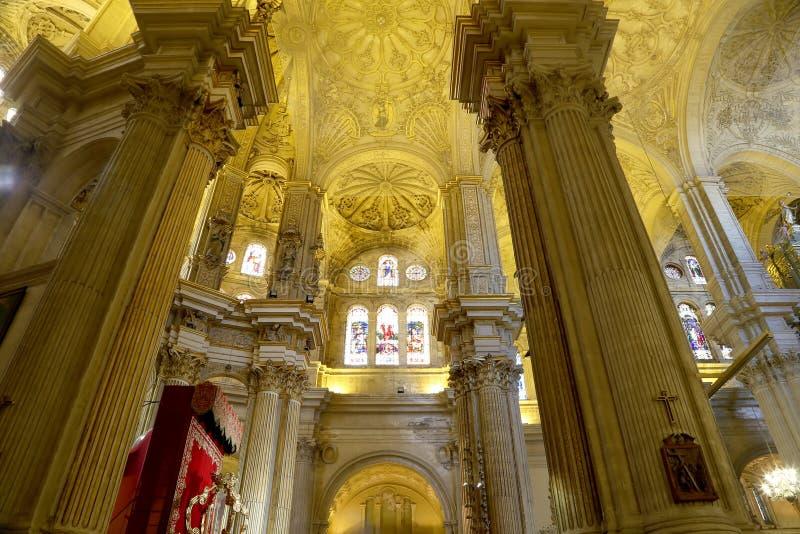 Download Catedral Interior De Málaga--es Una Iglesia Del Renacimiento En La Ciudad De Málaga, Andalucía, España Meridional Imagen de archivo - Imagen de iglesia, tradicional: 44857749