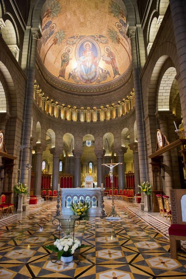 Catedral interior de Mónaco imagen de archivo