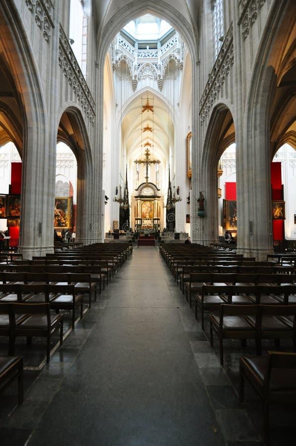 Catedral interior de nuestra señora, Amberes imágenes de archivo libres de regalías
