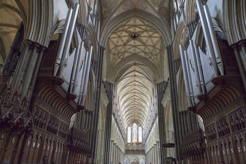 Catedral interior de Salisbury fotografía de archivo libre de regalías