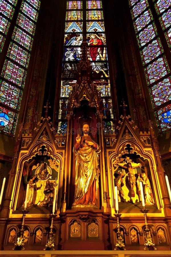 Catedral interior de St Johns, Den Bosch fotografia de stock