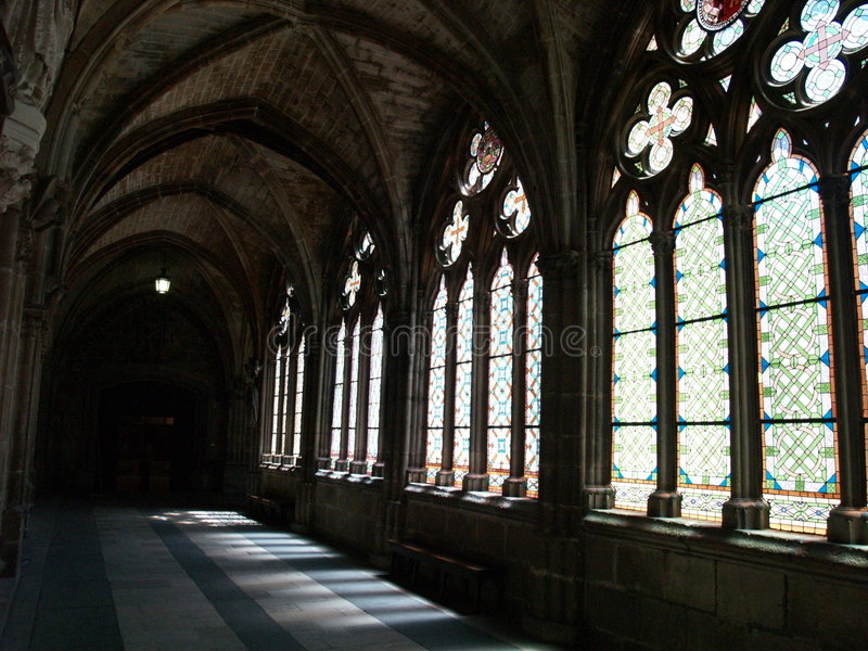 Catedral interna fotografia de stock