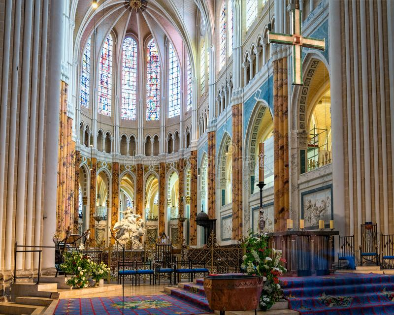 Catedral interna de Chartres imagem de stock royalty free