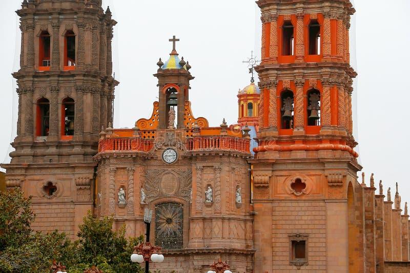 Catedral IX de San Luis potosi fotografía de archivo