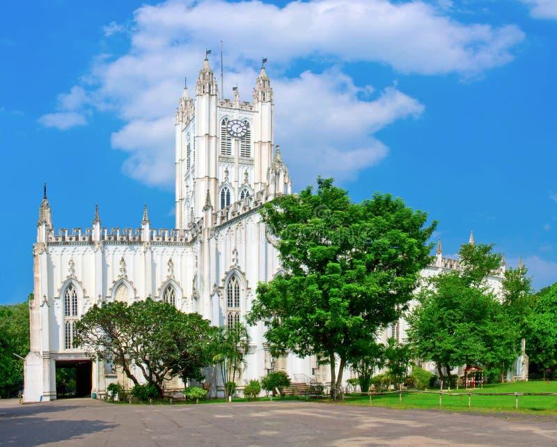 A catedral Kolkata de St Paul, Índia fotografia de stock