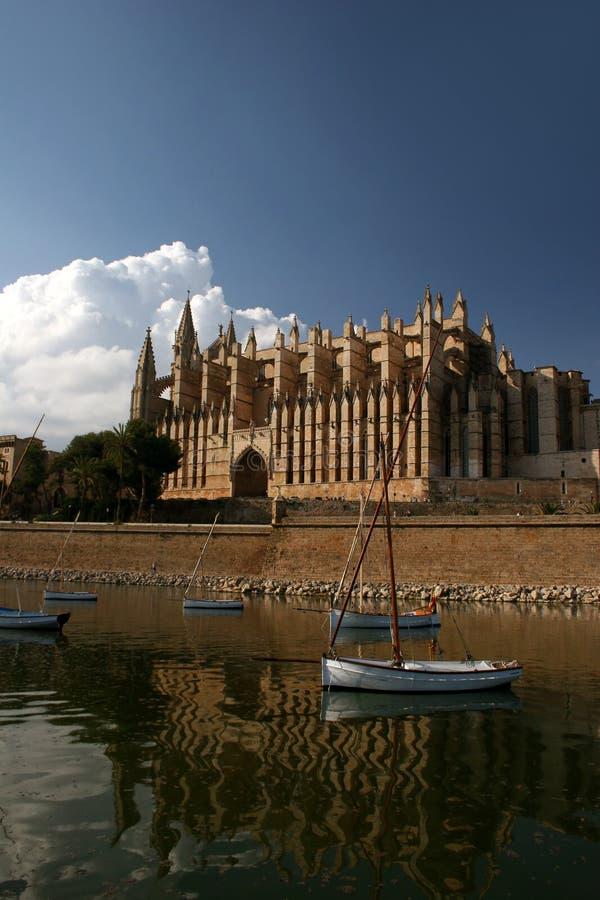 Catedral La Seu i Palma de Mallorca royaltyfria foton