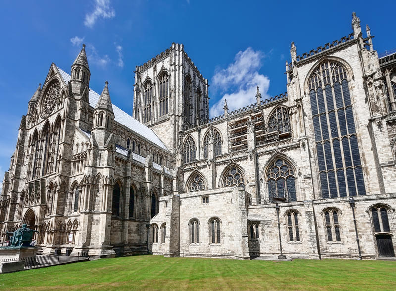 Catedral en York Reino Unido foto de archivo