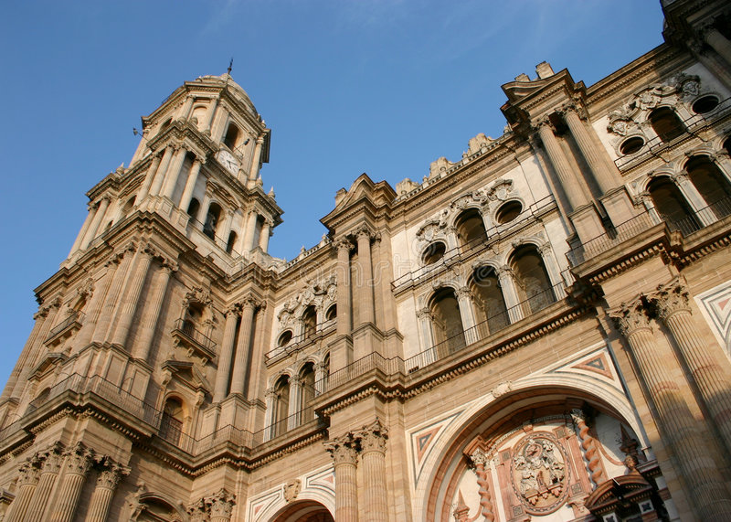 Catedral malaga do manquita do La fotos de stock