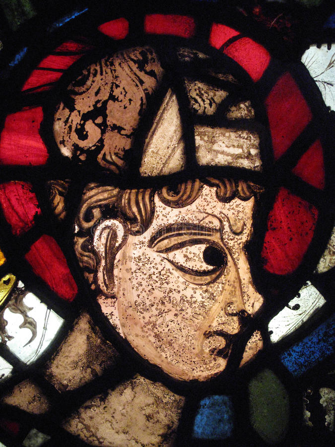 Catedral medieval de Canterbury do vidro manchado imagens de stock