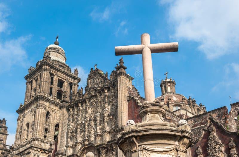 Catedral metropolitana da suposição de Mary de Cidade do México imagem de stock