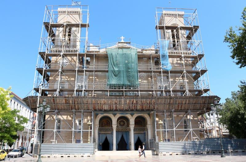 Catedral metropolitana de Atenas fotografia de stock