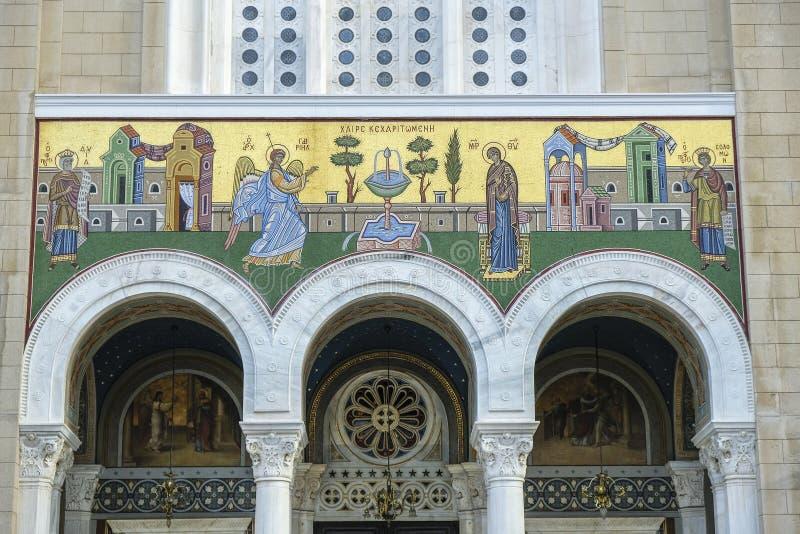 Catedral metropolitana de Atenas, Grécia imagem de stock